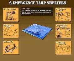 Emergency tarp tents