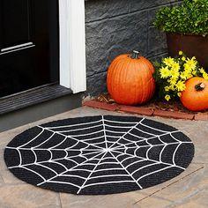 Halloween spiderweb mat