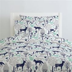 Carousel Designs Bubblegum Pink and Navy Woodland Animals Duvet Cover Twin Size - Organic Cotton Duvet Cover - Made in The USA Best Bedding Sets, King Bedding Sets, Luxury Bedding Sets, Modern Bedding, Bed Sheets Online, Cheap Bed Sheets, 100 Cotton Duvet Covers, Bed Duvet Covers, Twin Beds For Boys