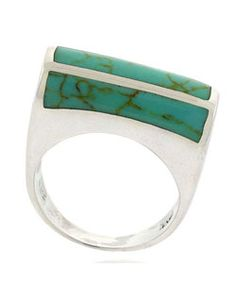 Sterling Silver Turquoise Inlay Ring