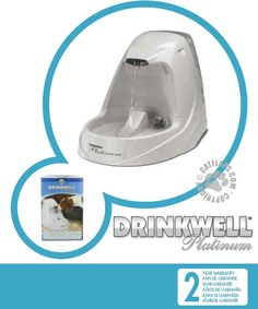 The Drinkwell® Platinum Pet Fountain is the ultimate in style and design. This all new design utilizes the same patented free-falling stream of water as the original Drinkwell® which entices pets to drink more, keeping them happy, healthy, and hydrated. Pet Products, Fountain, Home Appliances, Pets, Design, Style, House Appliances, Swag