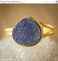 Dark Galaxy Druzy Ring - features an adjustable ring band. Versatile and seriously sparkly! #druzy #statementrings #fashionista #stylish #springfashion2014