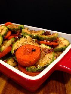 Receita de Legumes ao Forno_foto Cuecas na Cozinha Clean Recipes, Low Carb Recipes, Diet Recipes, Vegetarian Recipes, Cooking Recipes, Healthy Recipes, A Food, Food And Drink, Healty Dinner