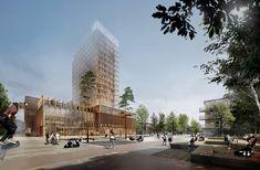 Galeria de White Arkitekter propõe edifício de madeira para o Centro Cultural de Skellefteå - 4