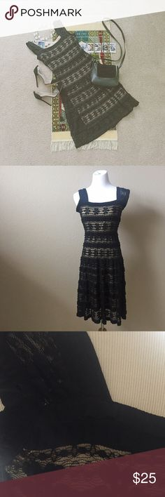 • • Max Studio • Black & Beige Lace Dress • • Beautiful and elegantly sexy dress from Max Studio in a size small. I'm good condition and seems to be like new. Lovely evening dress is the perfect price for a date night or some time out. Feel free to make reasonable offers! Max Studio Dresses