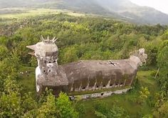 "Curious Places: Chicken Church ""Gereja Ayam"" (Magelang, Java/ Indonesia) - church in the forest"