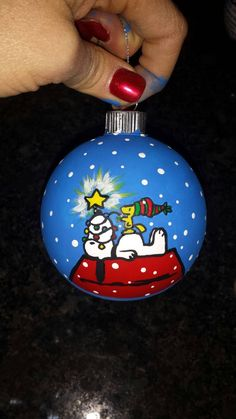 Custom, personalized, hand painted Christmas Ornaments!