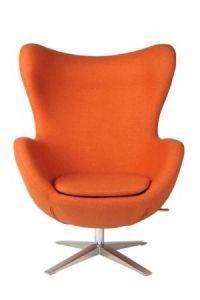 Fotel EGG tkanina wełniana - różne kolory