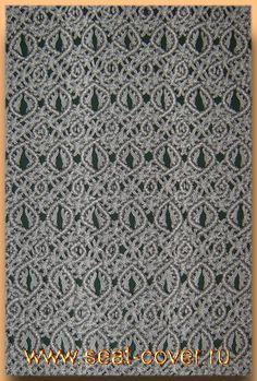 Ковровый узор плетёной накидки