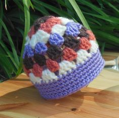 Newborn Granny Stitch Hat Crochet Pattern
