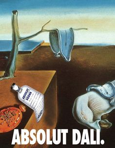 Absolut DALÍ (Salvador Dalí) | ABSOLUT vodka ads | Pinterest | Dali