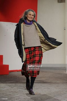 Benedetta Barzini walks the runway at the Daniela Gregis Autumn/Winter 2012/2013 fashion show as part of Milan Womenswear Fashion Week on February 23, 2012 in Milan, Italy.