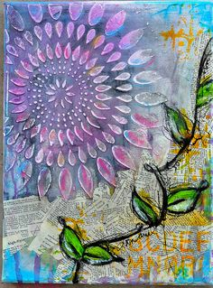 Art journaling or collage?  Pinned from PinTo for iPad 