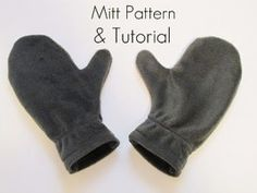 Free pattern: Fleece mittens · Sewing | CraftGossip.com
