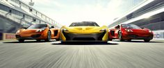 mclaren p1 race tracks Background