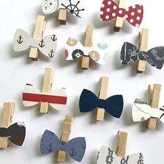 Nautical Bow Tie Clothespins Don't Say Baby Game Baby Shower Decoration Wedding Bowtie Clothes Pins Clips Birthday Party Anchor Navy Red – Baby Shower İdeas 2020 Nautical Baby Shower Decorations, Nautical Favors, Wedding Shower Decorations, Nautical Wedding, Distintivos Baby Shower, Baby Shower Gift Bags, Baby Shower Games, Bow Tie Theme, Dont Say Baby Game