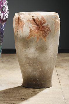 Albert Dammouse (1848-1926), Pâte de verre Vase.