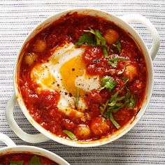 spicy coddled eggs with focaccia recipes dishmaps bites coddled eggs ...