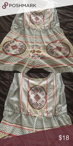 Very Cute Romper ties at waist light weight large Super cute Aztec print large but runs small more towards a medium Pants Jumpsuits & Rompers