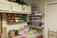 simple craft room, <3 ribbon holder