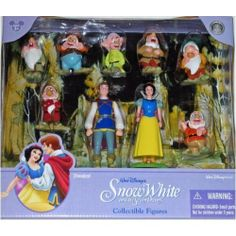 Disney Snow White Poseable Figurine Figure Set by Disney. $28.84. Walt Disney World Theme Parks & Resorts Exclusive. Features 9 Character Figures from the Classic Disney Film Snow White. From the magic and wonder that is only Disney, the character figures are Snow White, The Prince, Bashful, Doc, Dopey, Grumpy, Happy, Sleepy, and Sneezy. Figures measure from about 2 to 4 inches in height.