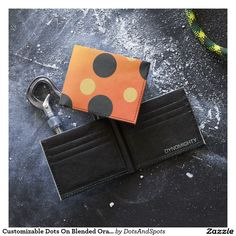 Customizable Dots On Blended OrangeToYellow Tyvek Wallet