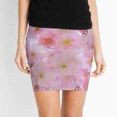 -  Constructed from 88% polyester, 12% elastane.   -  Elastic waistband and stretchy knit fabric allows you to move. For in-between sizes, choose the larger size. . . . #miniskirt  #skirt  #clothes  #stretchyknitfabric  #bitsofeverywhere  #cherryblossoms  #pinkflowers  #flowers