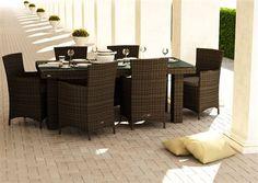 oltre umely ratan stol Rapallo 160 cm brown 1303475083 Praha, Outdoor Furniture Sets, Outdoor Decor, Amanda, Brown, Home Decor, Decoration Home, Room Decor, Brown Colors