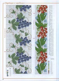 Cross Stitch Fruit, Cross Stitch Kitchen, Cross Stitch Bookmarks, Cute Cross Stitch, Cross Stitch Borders, Cross Stitch Rose, Cross Stitch Charts, Cross Stitch Designs, Cross Stitching
