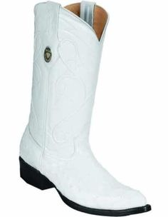 386fdd5c34c0 ID#VJ15196 J Toe Genuine Quill Ostrich Skin Full Leather Lining Boot White