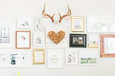 neutral + gold gallery wall | Ever and Anon