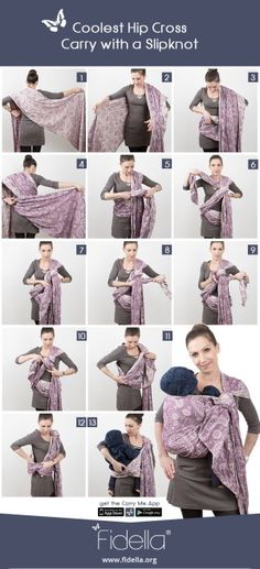 24 Besten Baby Wrap Tying Instructions Bilder Auf Pinterest Baby