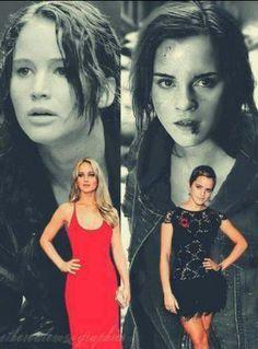 Jenn and Emma/Katniss and Hermione