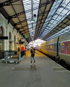 My trip to France gave me this incredible pic. This is the train station of Hendaya, at the border