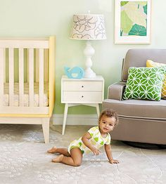 Taking care of Baby will feel like a vacation when you're in his tropical-themed nursery! Find out how to try this trend in your child's bedroom.