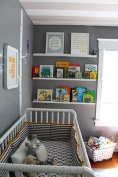 Cute shelf for the baby books!  This is a must.  I will definitely have a place for the books. =)