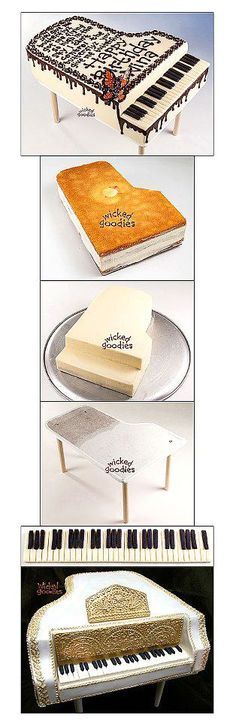 If I lived in Indiana I would Make this for my grandma!! http://www.wickedgoodies.net/2012/09/how-to-make-a-piano-cake/