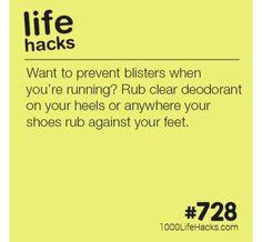 Prevent Blisters Life Hacks Hair, 1000 Life Hacks, Prevent Blisters, Simple Life Hacks, School Hacks, Survival Tips, Life Advice, Lifehacks, Home Hacks