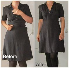 Refashion Co-op: Too small dress now fits