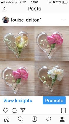 Real flowers preserved in Resin .Keepsake by HLDCreations on Etsy Glass Cast Resin, Resin Flowers, How To Preserve Flowers, Preserves, Glass Vase, Handmade Items, Etsy, Preserve, Preserving Food