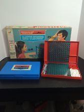 Vintage 1971 Battleship Milton Bradley Board Game With Box