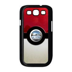 funny cute pokemon pokeball pikachu with chrome button image Samsung Galaxy S3 I9300 or S3 mini ( White or Black Case ). $16,50, via Etsy.