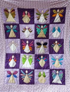 Angel Quilt - Becca ReWritten...THIS IS A GORGEOUS QUILT...LOVE THE COLORS TOO!