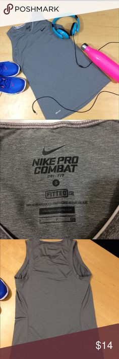 Nike Dry-Fit tank Small Nike Pro Combat dry-fit tank, excellent condition. Nike Tops Tank Tops