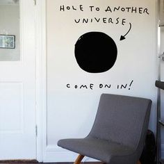 Funny wall decal.