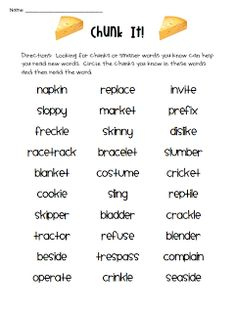 we are working on this right now. great practice words Reading Words, Reading Lessons, Reading Resources, Reading Strategies, Reading Activities, Reading Skills, Spelling Activities, Preschool Literacy, Vocabulary Activities