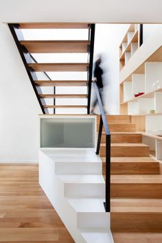 stairs as display and storage