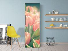 Wundervolle Kühlschrankfolie mit Tulpen-Design passend zu Ostern #Frühlingsgefühle #Kühlschrankposter selbstklebend #Kühlschranksticker
