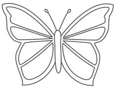 Perspective Large Butterfly Template Image Detail For Craft Wood Scroll Saw Pattern Crafts Butterfly Outline, Butterfly Stencil, Simple Butterfly, Butterfly Template, Butterfly Shape, Butterfly Crafts, Butterfly Pattern, Crown Template, Butterfly Mobile