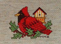 Stitch Days: Cardinal from http://www.needleartworks.com/stv/nwsltr/sept10/page1-6.pdf